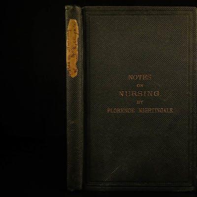 1861 Florence Nightingale Notes on Nursing Medicine Health Nurses Civil War