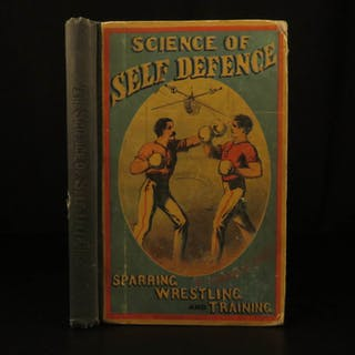 1867 1ed BOXING Science of Self Defense Combat Sport Illustrated Pugilism Price
