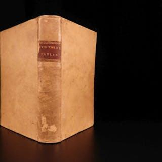 1760 Fables of Jean de Fontaine French Literature Aesop Poetry Phaedrus Vellum