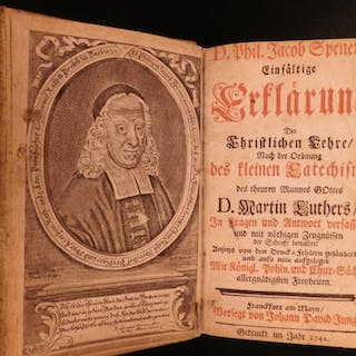 1742 Philipp Spener On Martin Luther Small Catechism Lutheran Devotional