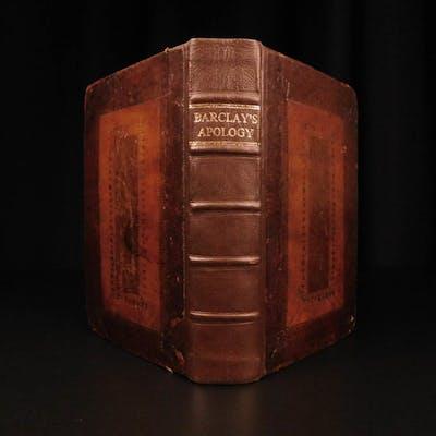 1736 Robert Barclay QUAKER Apology for Christian Divinity Doctrine Scotland