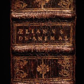 1611 Aelian On Animals Greek Philosophy FISH Animalia Mythology Wonders RARE