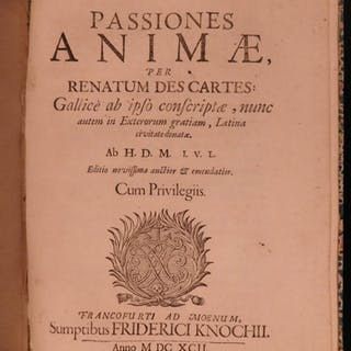 1692 Rene Descartes Passions of the Soul Philosophy Psychology Metaphysics