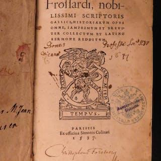 1537 1ed John Froissart Chronicles Medieval Hundred Years War Chivalry