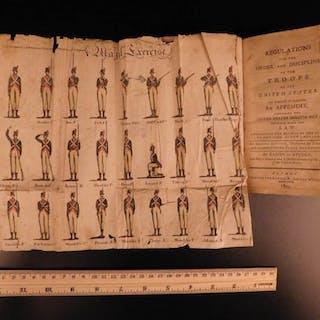 1803 Steuben Army Regulations War US Army Manual Illustrated Military Tactics