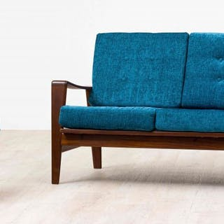A Danish sofa and armchair model 35, 1960, designed by Arne Wahl Iversen