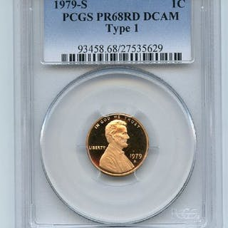 1979 S 1C Lincoln Cent Proof PCGS PR68DCAM coin