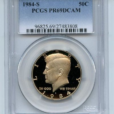 1984 S 50C Kennedy Half Dollar Proof PCGS PR69DCAM coin
