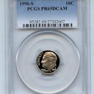 1996 S 10C Roosevelt Dime Proof PCGS PR69DCAM coin