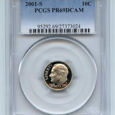 2001 S 10C Clad Roosevelt Dime PCGS PR69DCAM coin