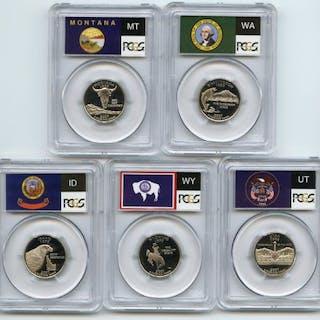 2007 S Clad State Quarter Set PCGS PR69DCAM