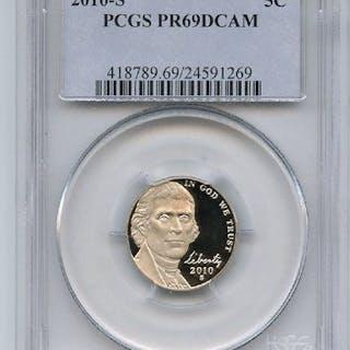 2010 S 5C Jefferson Nickel PCGS PR69DCAM