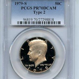 1979 S 50C T2 Type 2 Kennedy Half Dollar Proof PCGS PR70DCAM coin