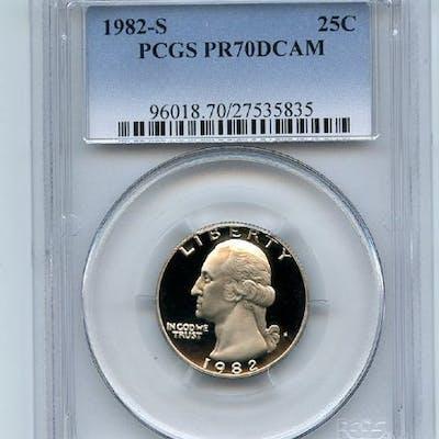 1982 S 25C Washington Quarter Proof PCGS PR70DCAM coin