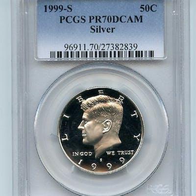 1999 S 50C Silver Kennedy Half Dollar PCGS PR70DCAM coin