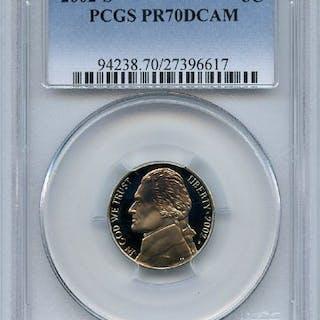 2002 S 5C Jefferson Nickel PCGS PR70DCAM coin