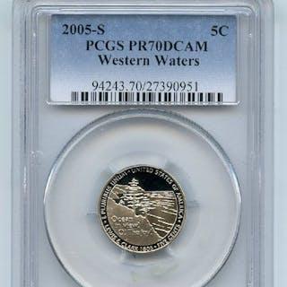 2005 S 5C Western Waters Jefferson Nickel PCGS PR70DCAM coin