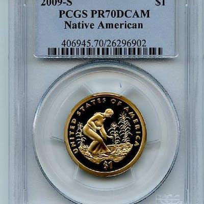 2009 S $1 Sacagawea Dollar PCGS PR70DCAM coin