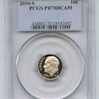 2010 S 10C Roosevelt Dime PCGS PR70DCAM