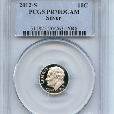 2012 S 10C Silver Roosevelt Dime PCGS PR70DCAM coin
