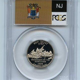 1999 S 25C Clad New Jersey Quarter PCGS PR70DCAM coin