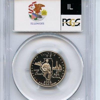 2003 S 25C Clad Illinois Quarter PCGS PR70DCAM coin