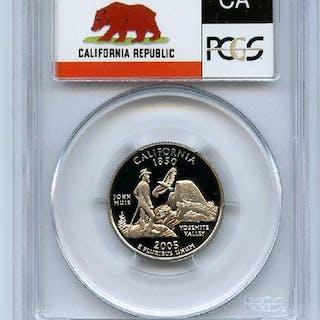 2005 S 25C Clad California Quarter PCGS PR70DCAM coin