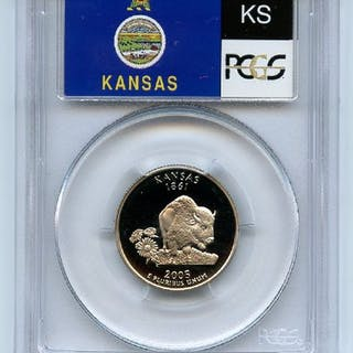 2005 S 25C Clad Kansas Quarter PCGS PR70DCAM coin