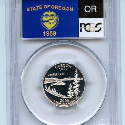 2005 S 25C Silver Oregon Quarter PCGS PR70DCAM coin
