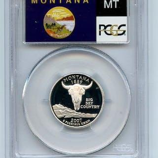 2007 S 25C Silver Montana Quarter PCGS PR70DCAM coin