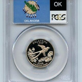 2008 S 25C Clad Oklahoma Quarter PCGS PR70DCAM coin