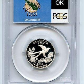 2008 S 25C Silver Oklahoma Quarter PCGS PR70DCAM coin