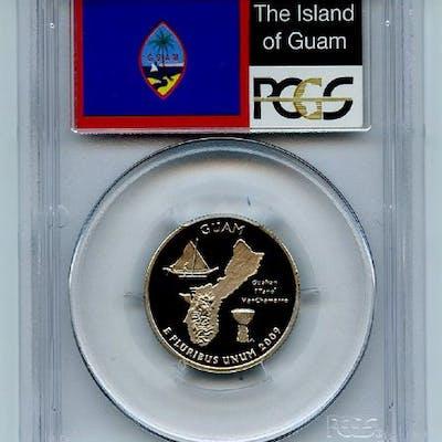2009 S 25C Clad Guam Quarter PCGS PR70DCAM coin