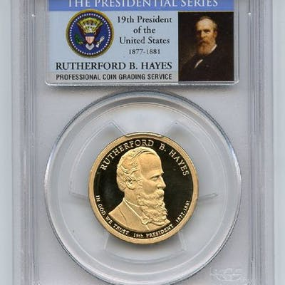 2011 S $1 Rutherford B Hayes Dollar PCGS PR70DCAM coin
