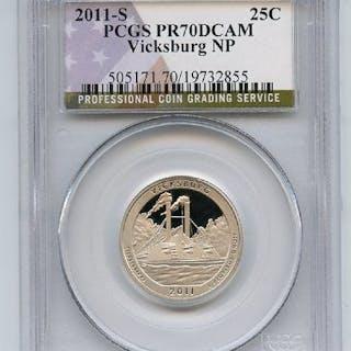 2011 S 25C Clad Vicksburg Quarter PCGS PR70DCAM coin