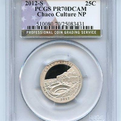 2012 S 25C Clad Chaco Culture Quarter PCGS PR70DCAM coin