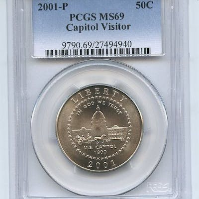 2001 P 50C Capitol Visitor Center PCGS MS69 coin