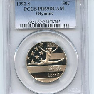 1992 S 50C Olympic Commemorative PCGS PR69DCAM