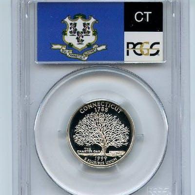 1999 S 25C Silver Connecticut Quarter PCGS PR69DCAM coin