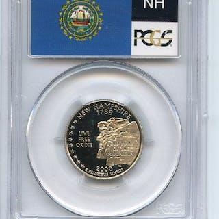 2000 S 25C Clad New Hampshire Quarter PCGS PR69DCAM coin