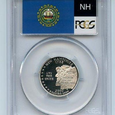 2000 S 25C Silver New Hampshire Quarter PCGS PR69DCAM coin