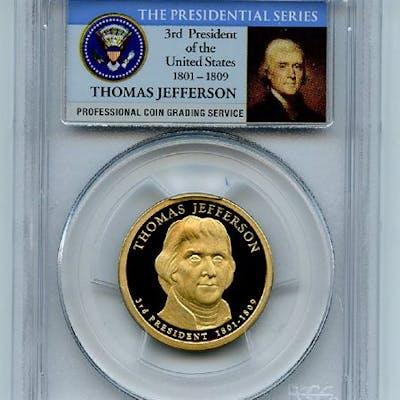 2007 S $1 Thomas Jefferson Dollar PCGS PR69DCAM coin