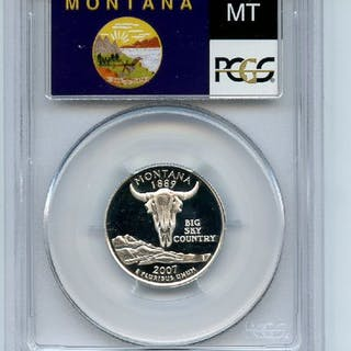 2007 S 25C Silver Montana Quarter PCGS PR69DCAM coin