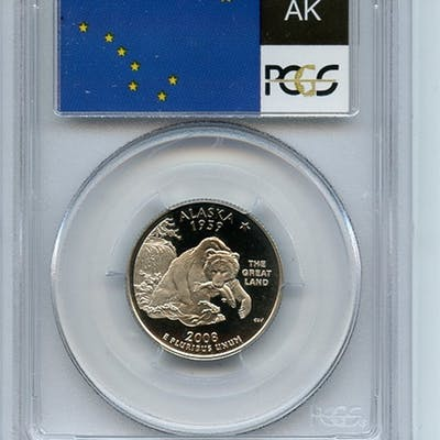 2008 S 25C Clad Alaska Quarter PCGS PR69DCAM coin