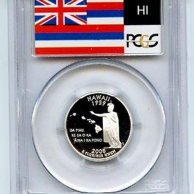 2008 S 25C Silver Hawaii Quarter PCGS PR69DCAM coin