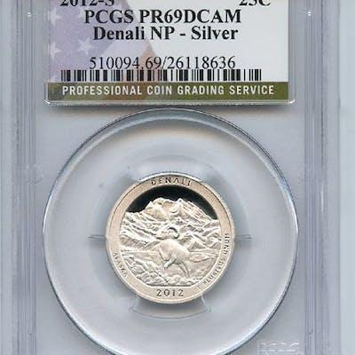 2012 S 25C Silver Denali Quarter PCGS PR69DCAM coin