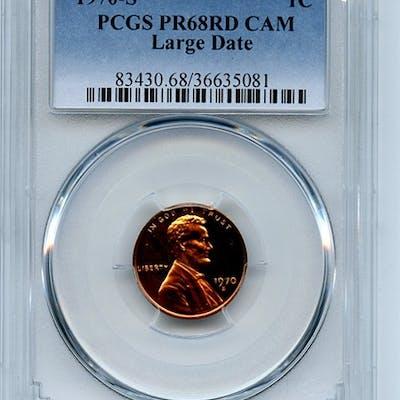 1970 S 1C Lincoln Cent PCGS PR68CAM coin