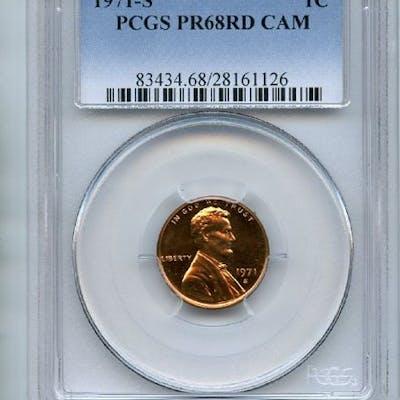 1971 S 1C Lincoln Cent PCGS PR68CAM coin