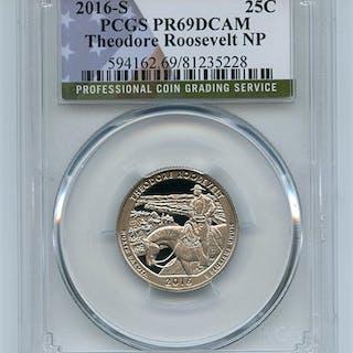 2016 S 25C Clad Theodore Roosevelt Quarter PCGS PR69DCAM coin