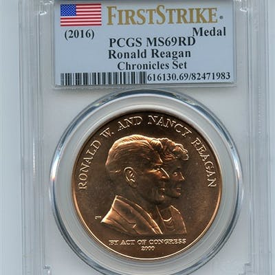 Ronald Reagan Medal Chronicles Set PCGS MS69 First Strike coin